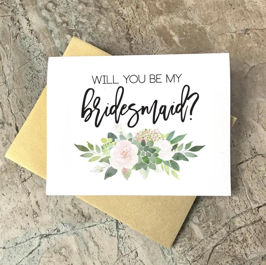 Hochzeit - Will you be my Bridesmaid Cards, Bridesmaid Proposal, Wedding Cards, Floral To My Bridesmaid, Bridal Cards, Bridesmaid Gift, SU