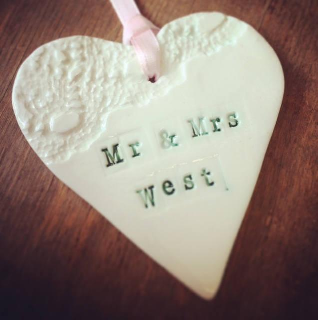 Hochzeit - Personalised Porcelain Gift Tag!!
