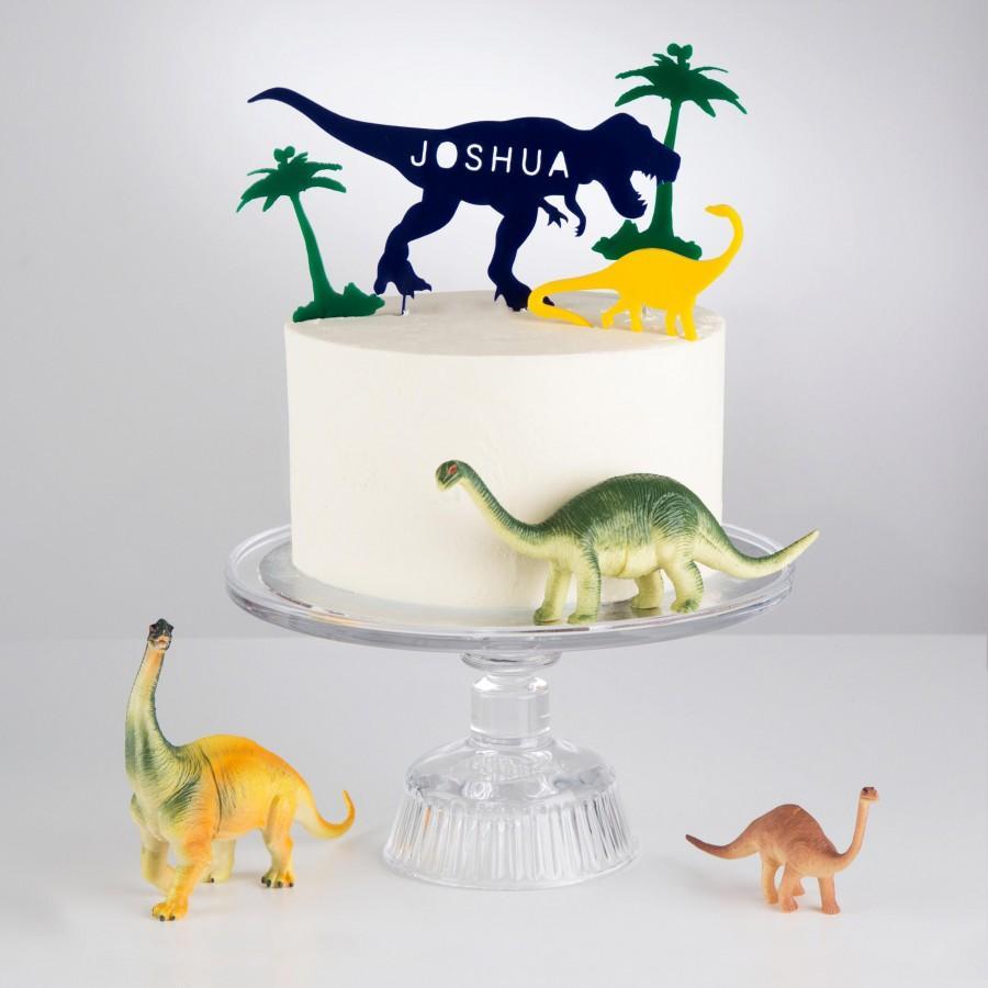 Mariage - Personalised Dinosaur Cake Topper Scene