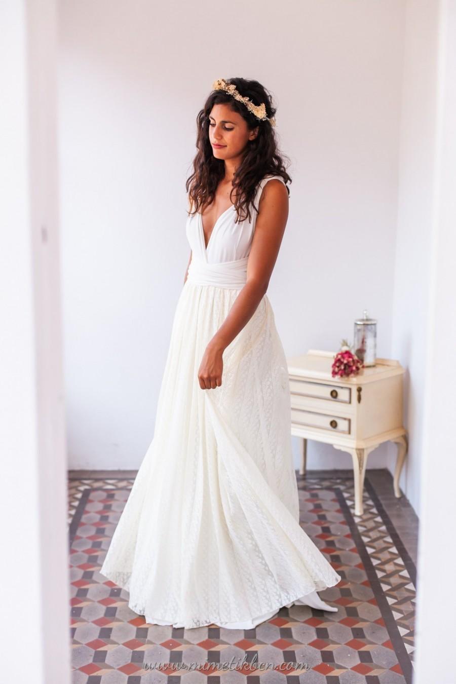 Lace Wedding Dress Romantic Wedding Dress Lace Bridal Gown