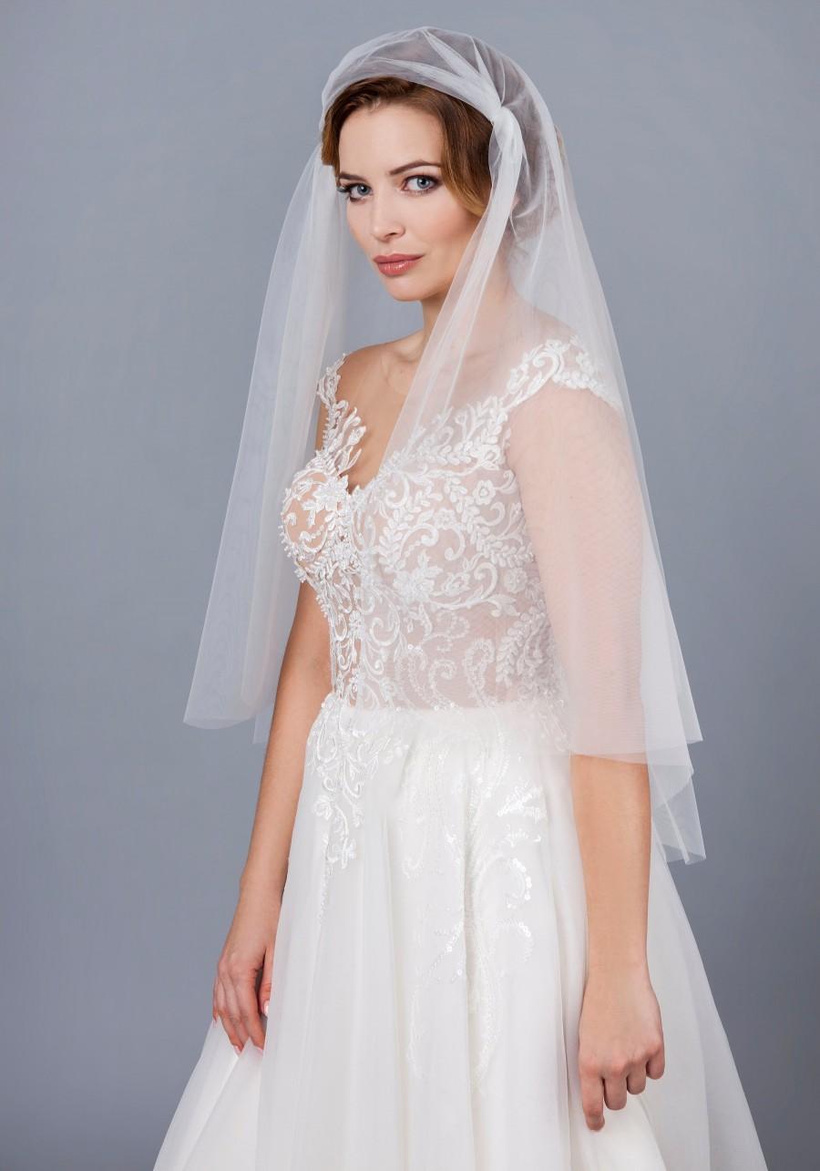 Wedding - Soft Juliet Cap Veil Cap Bridal Veil , English Tulle Juliet Wedding Veil, ivory soft veil bridal Veil 1920s bridal veil Vintage style veil