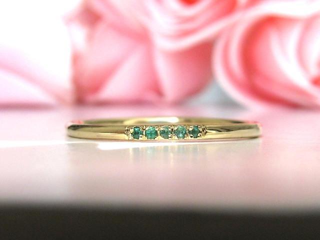 Hochzeit - Emerald Wedding Band, Emerald Engagement, Gold Wedding Band 14k, Unique Wedding Band Emerald, Matching Band, Eternity Band