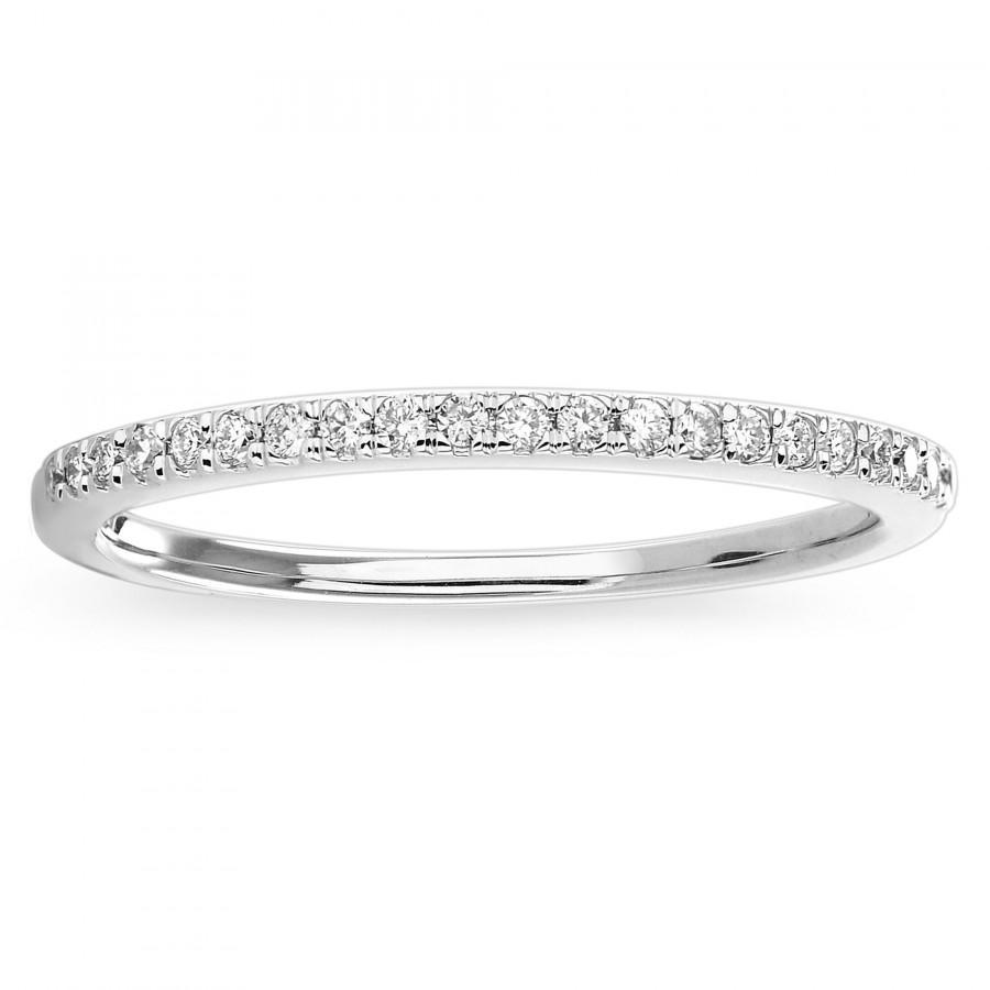 Wedding - Diamond Wedding Band, 14K Gold Band Ring, Simple Diamond Band for Women, 14K Thin Gold Diamond Band, Wedding Anniversary Ladies Diamond Band