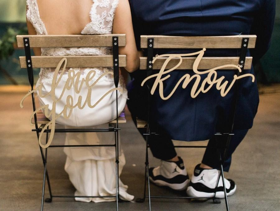Mariage - I love you I know Star Wars Laser Cut Chair Backs