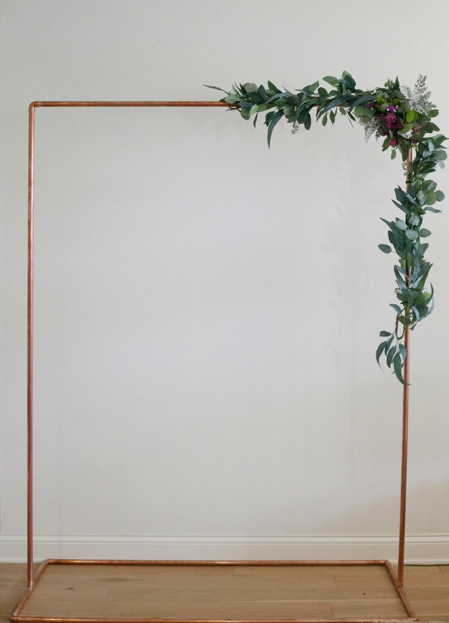 Mariage - Copper Arch,  Wedding Arch, Copper Wedding Arch, Full base bottom frame.