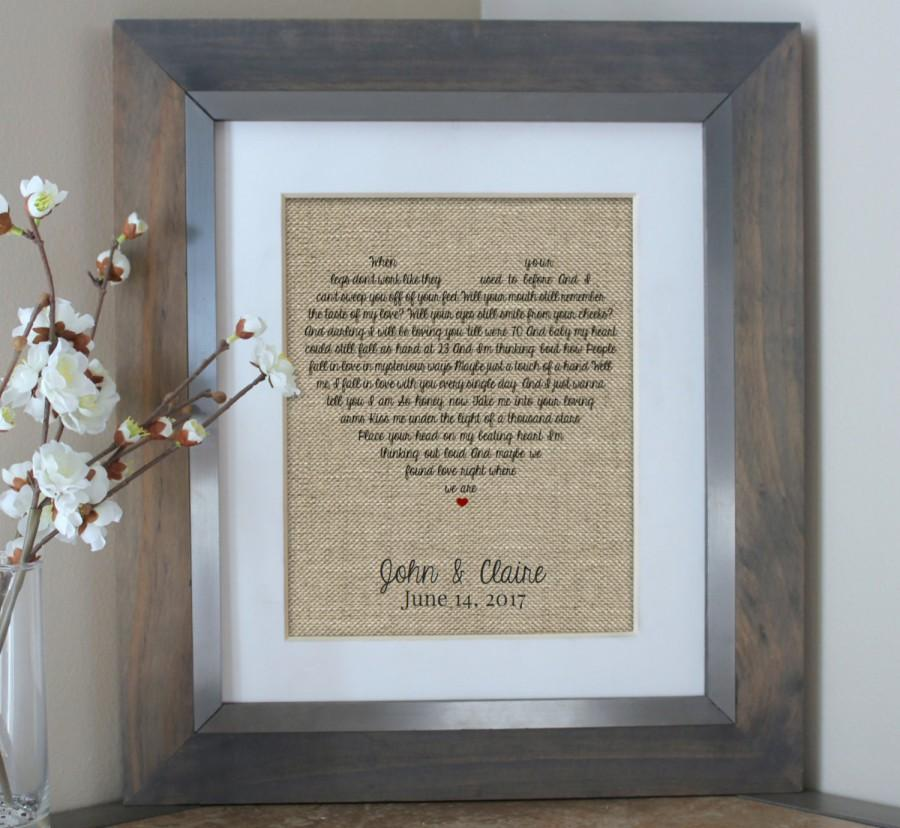 Husband Wedding Gift: Wedding Gift Husband Gift Wedding Song Lyrics Personalized