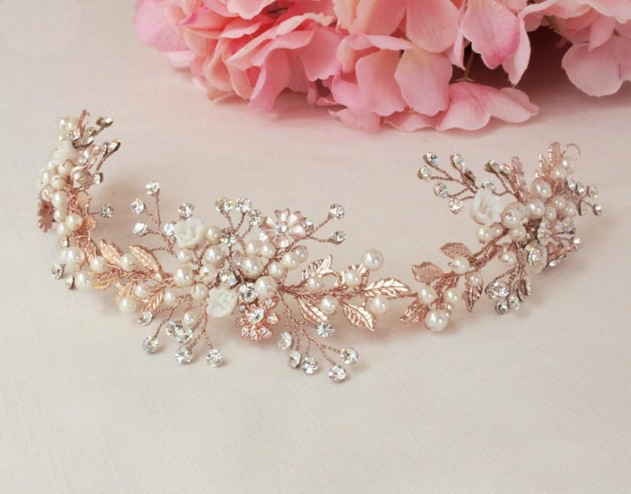 Mariage - Wedding hair accessories Bridal hair vine  Bridal hair piece Wedding hair piece Bridal headband Wedding hairpiece Bridal halo Flower girl