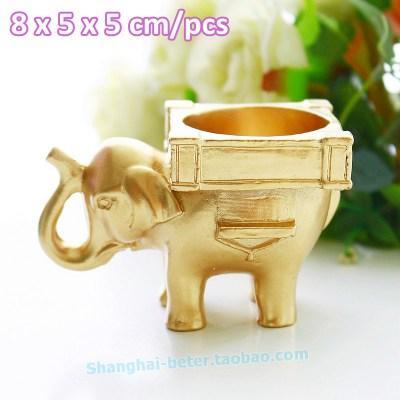 Mariage - 倍樂禮品®抖音同款INS喜糖盒创意婚礼小物印度幸运大象烛台回礼伴手礼SZ040