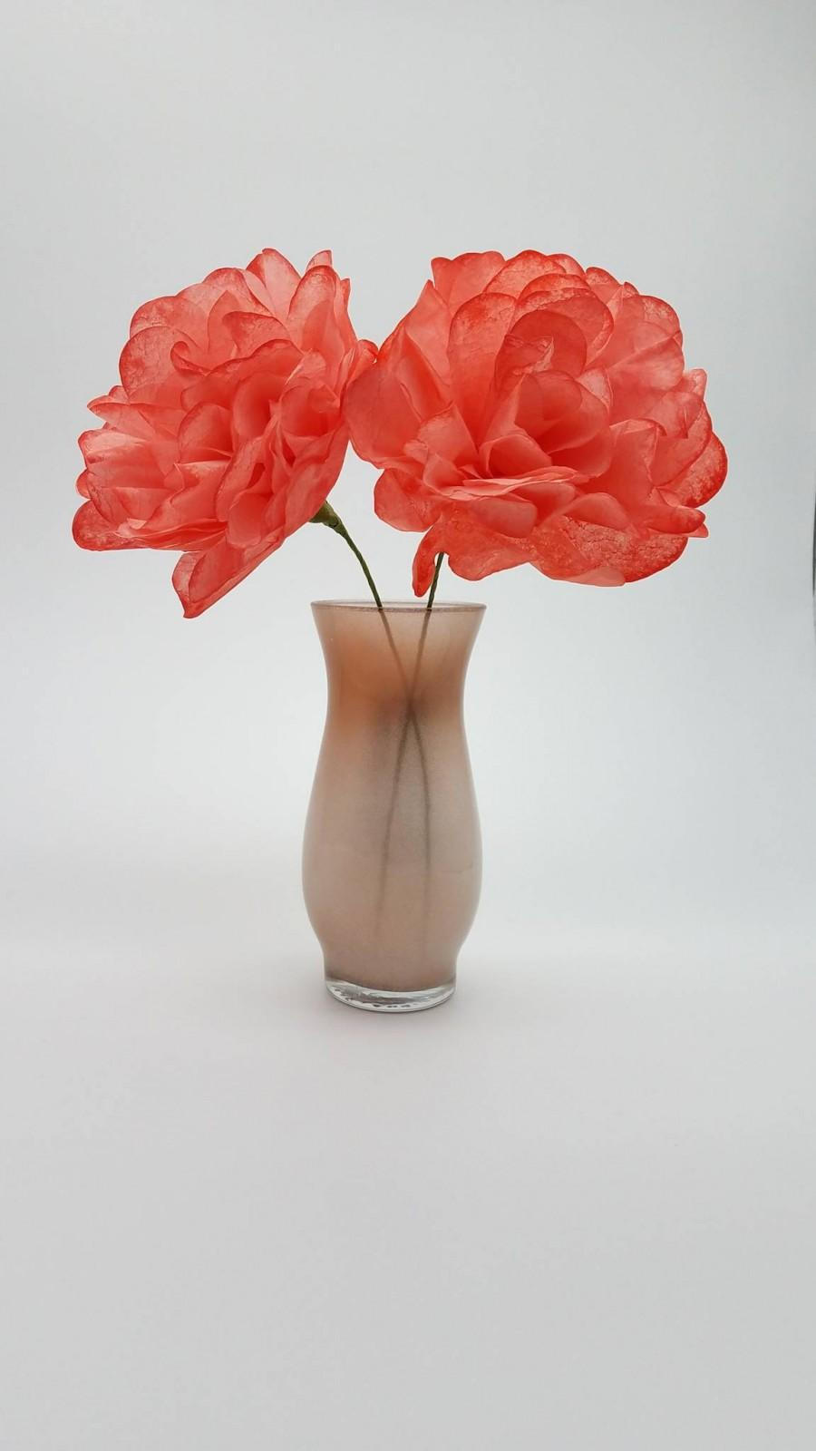 Mariage - Coral Paper Flowers-Wedding Flowers,Paper Flower Bouquet,Bridesmaid Bouquet,Bridal Shower,Baby Shower,Centerpiece,Cake Topper,Bridal Bouquet