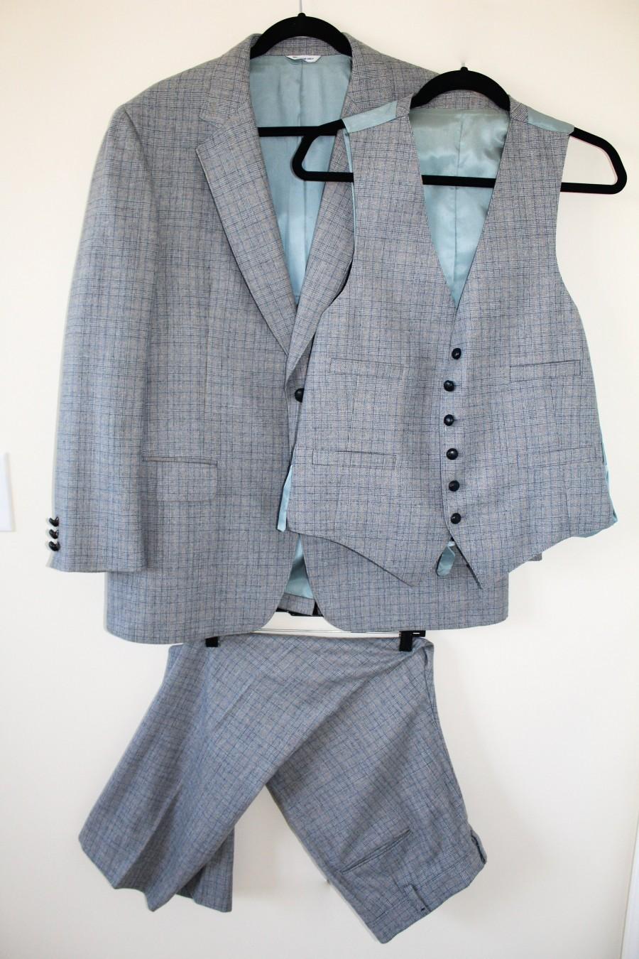 Wedding - Rare Custom 1960s 3 pc Tweed Suit Mad Men Vintage Wedding