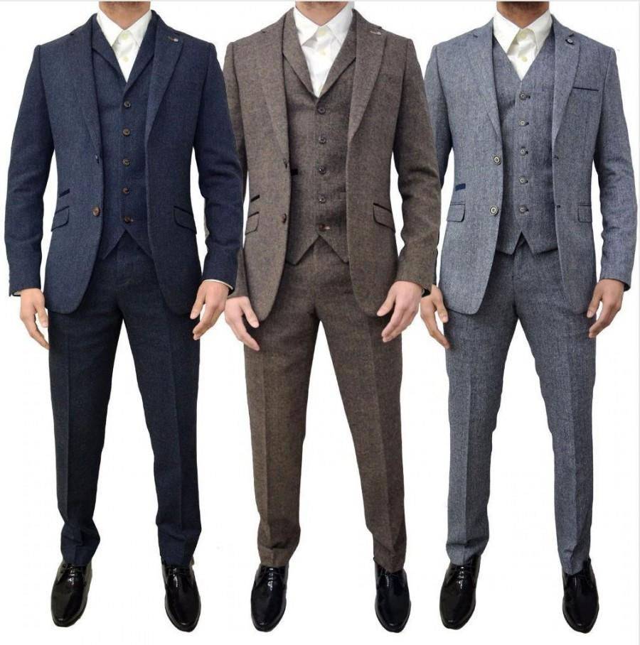 Wedding - Mens tweed 3 piece SUIT