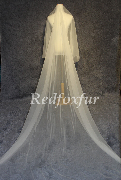 Mariage - Cathedral Wedding Bridal Veil tulle wedding veil, the veil simple trimming
