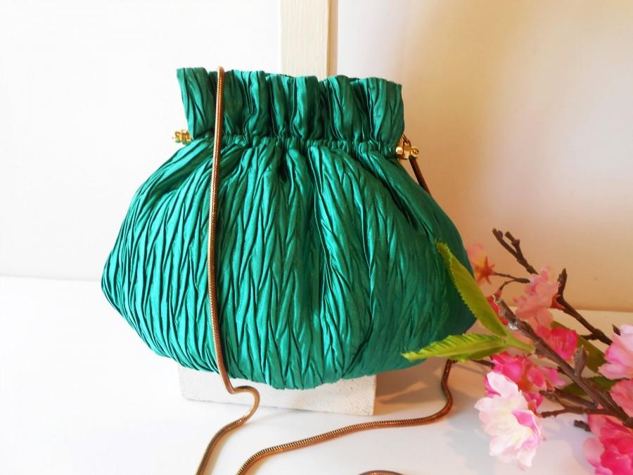 Mariage - Vintage Green Evening Bag, Glamorous Clutch Bag Holiday Purse EB-0626