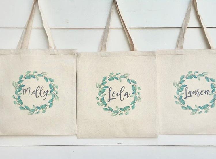Mariage - Bridesmaid Bags, Bridesmaid Tote Bags,Bridesmaid Bag,Wedding Tote Bags, Bridal Party Gifts,Bride,Wedding Gift, Custom Tote Bag,Bachlorette