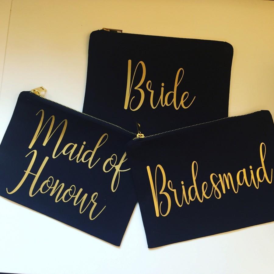 زفاف - Wedding Party Canvas make up bags