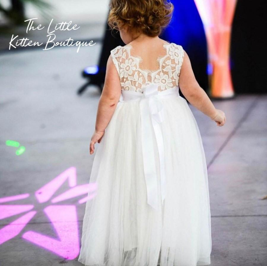 5672a28f9d2d Bohemian Flower Girl Dress