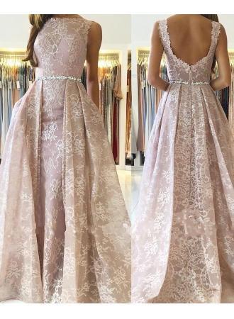 Rosa Abendkleider Lang Günstig #2901209 Weddbook