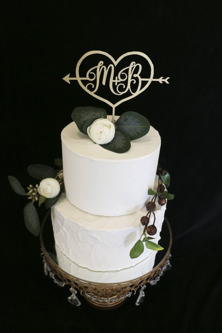 Hochzeit - Custom Initial Wedding Cake Topper