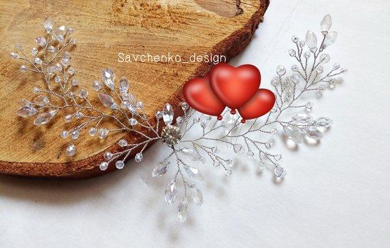 Wedding - Bridal hair vine Rose Gold hair accessories Crystal hair vine Wedding Hair Vine braut haarkam Greek goddess headband Bridal hair vine