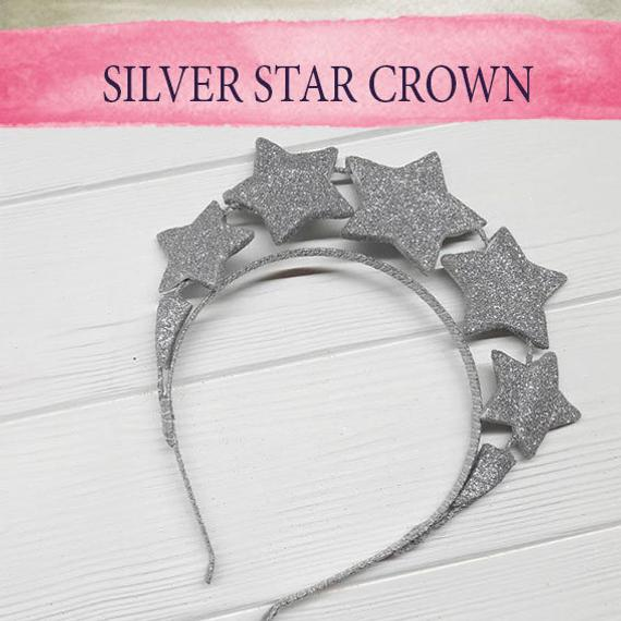 Wedding - Celestial Coco Star Crown 1920s Glittery Queen Tiara Cosmic Beauty Twinkle Little Star Silver Star Headband Tiara Bright Star Headdress