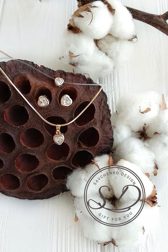 Mariage - Gold Bridesmaids Jewelry Set-Personalized Bridesmaids Jewelry Gift Set 4 5 6 7 8 Earrings   Necklace Gold Bridesmaid Jewelry Maid Of Honor