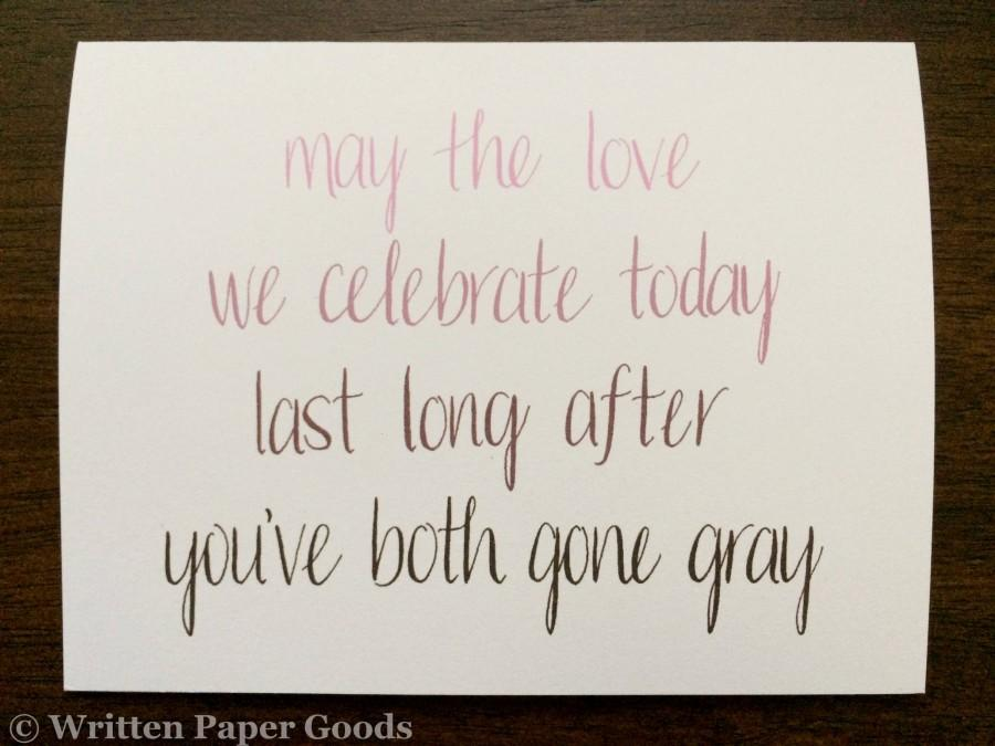 Mariage - Wedding Congratulations Card - Congrats Newlyweds - Happy Couple - Ombré Hand Lettering - Straight/Gay/Lesbian Love is Love is Love