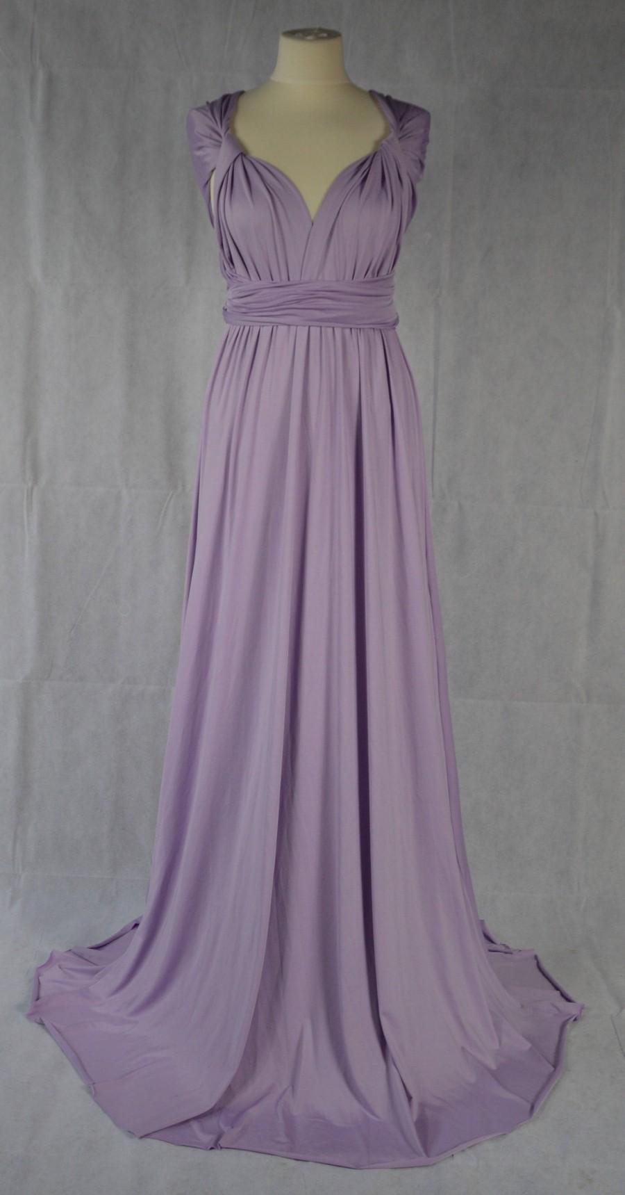 Wedding - Bridesmaid Dress Multiway Dress Convertible Dress Twist Wrap Dress Infinity Dress Wedding Prom Evening Lilac One Size Fits All