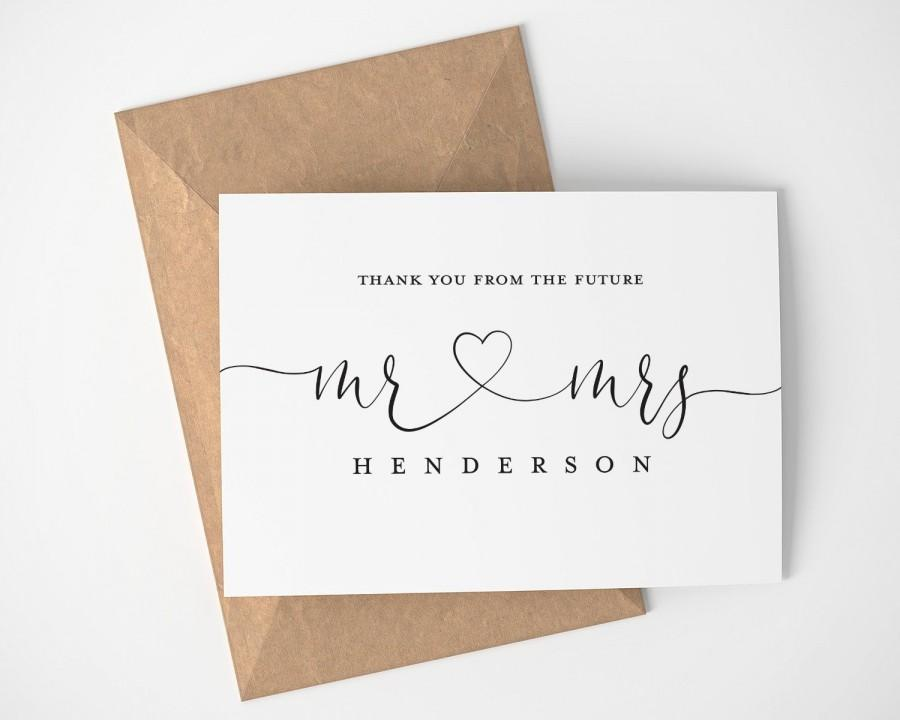 Mariage - Personalized Thank You From The Future Mr. and Mrs.