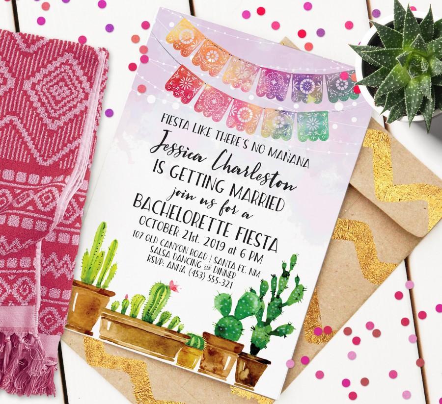 Mariage - Fiesta Bachelorette Invitation
