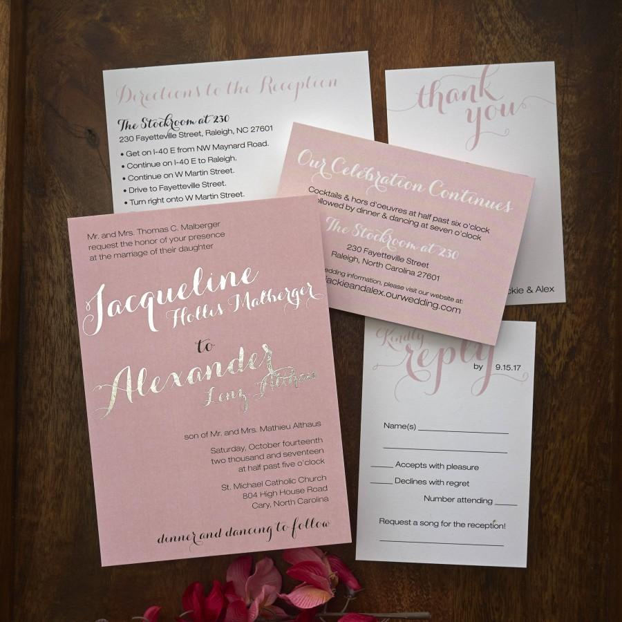 Wedding - Foil Names Wedding Invitation Suite / Wedding RSVP Cards, Envelopes and More Included / AV8557