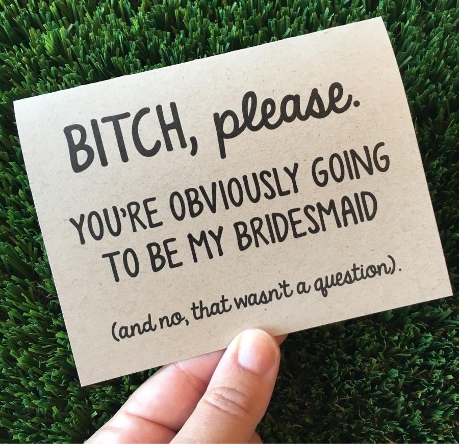 Mariage - Will you be my Bridesmaid / Bridesmaid card / Bridal party proposal / card for bridesmaid / Funny Bridesmaid card / Bridesmaid proposal card