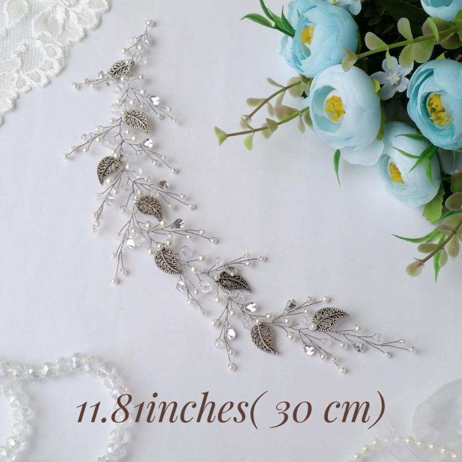 Mariage - Crystal bridal hair piece Bridal hair accessories Bridal hair vine Bridal hair comb Wedding headpiece Gold hair pieces Wedding hair piece