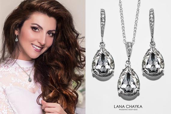 93c74bbc8548 Crystal Bridal Jewelry Set