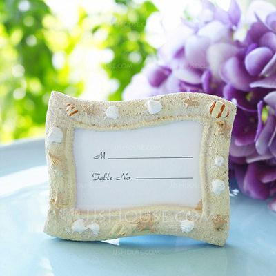 Mariage - Beter Gifts® Resin Shell Place card Holder Wedding Decoration