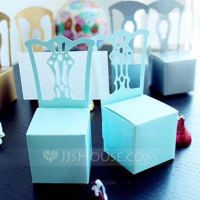 Mariage - BeterWedding Girls Pink Chair Favor Box and Place Card Holder (Set of 12)