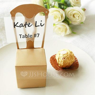 Mariage - Beter Gifts®  Gold 50th Anniversary Gold Chair Favor Box and Place Card Holder
