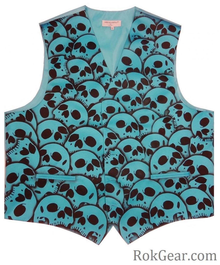 Wedding - RokGear design Skull Vest Waistcoat - LIMITED