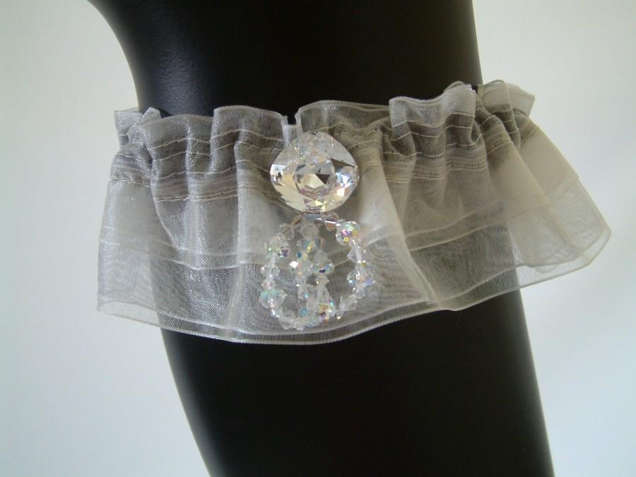 Wedding - Garter Set, Wedding Garter, Keepsake Garter, Lace Garter, Keepsake Crystal Garter, Wedding Accessories, Wedding and Toss Set