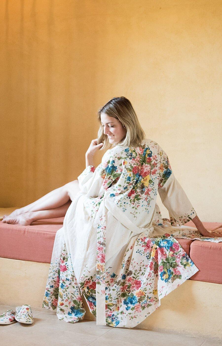 Wedding - Orchard Blossom Long Kimono
