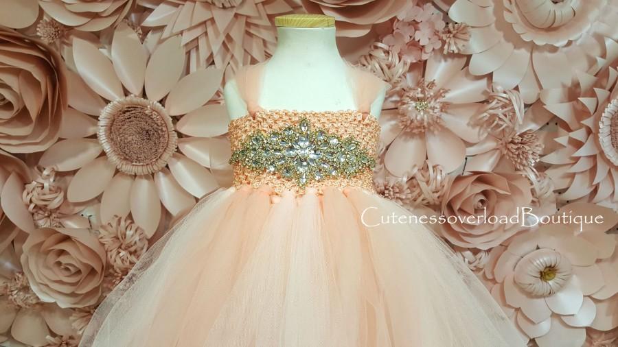 Свадьба - Peach Flower Girl Tutu Dress-Peach Tutu Dress-Peach Wedding Tutu Dress-Peach Tutu Dress-Peach Flower Girl Tutu Dress-Peach Birthday Dress.