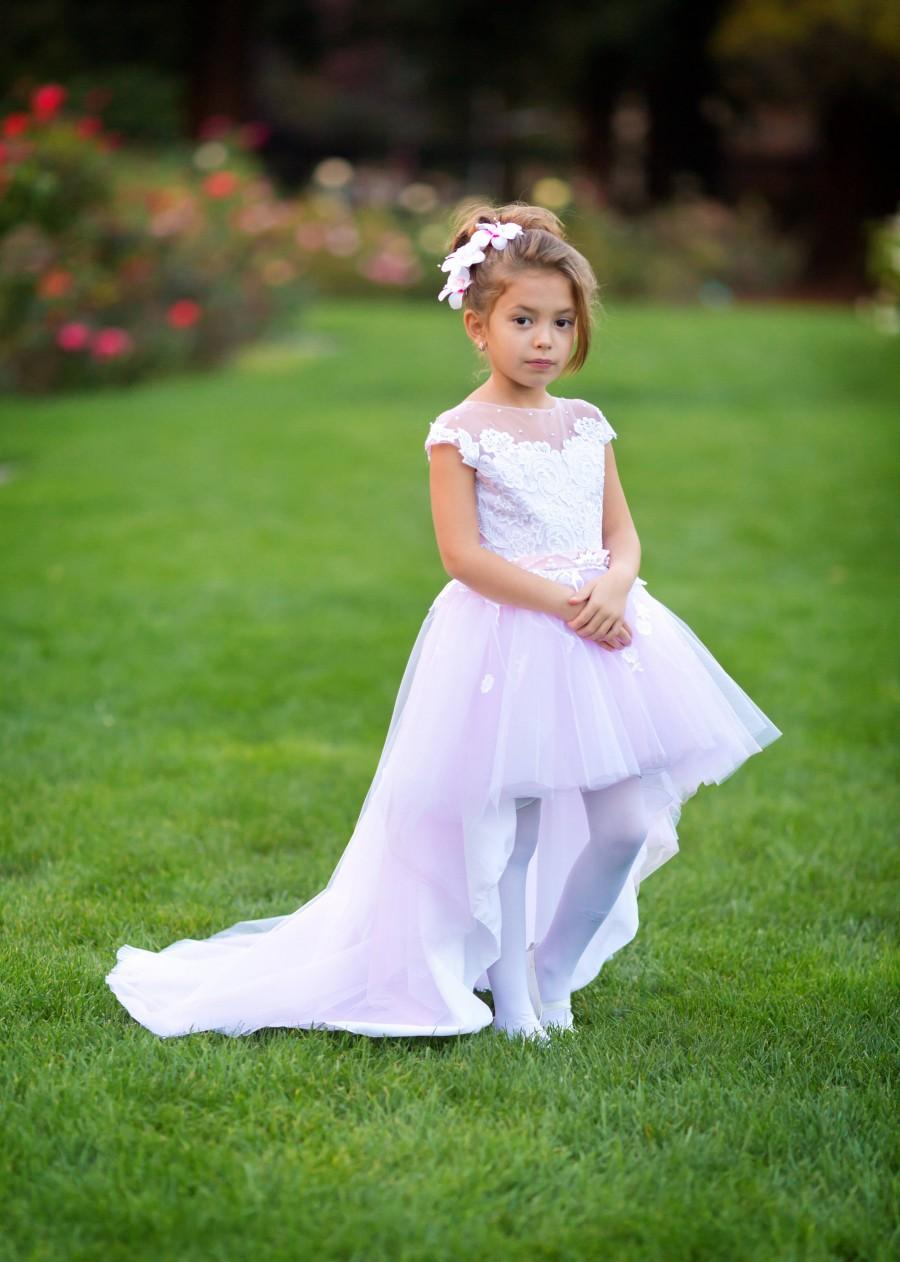 Flower Girl Princess Dress Baby Kids Party Wedding Brithday Formal Tulle Gowns