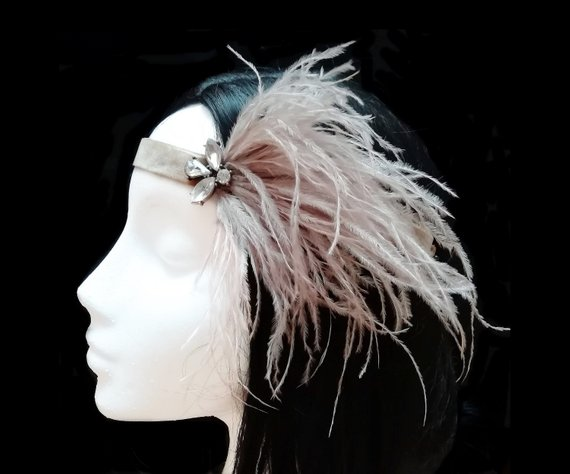 Свадьба - 1920s flapper headpiece. Gatsby wedding.