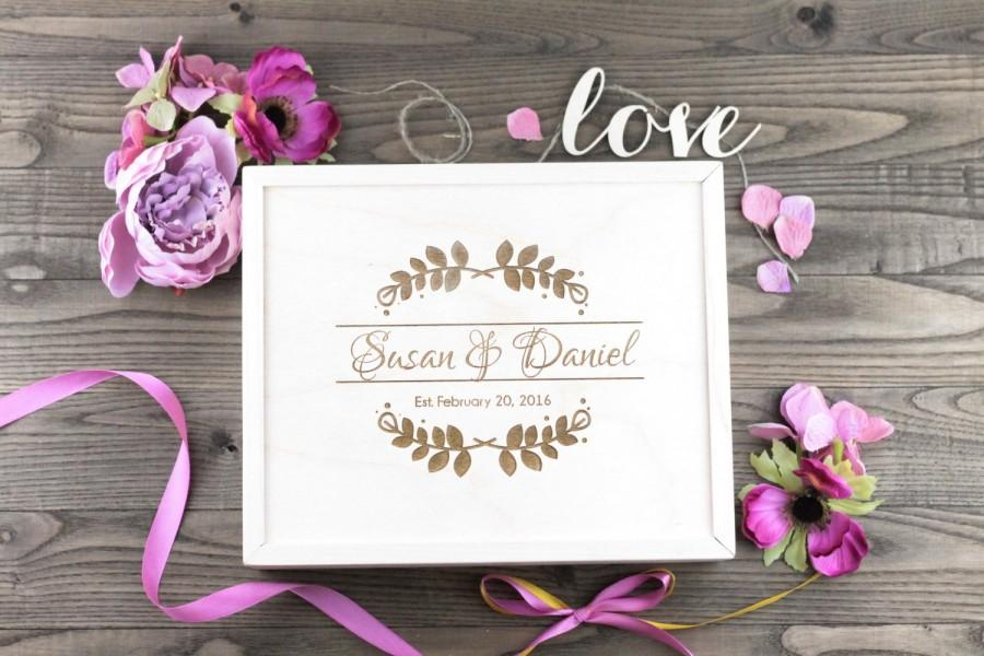 زفاف - Personalized Wood Wedding Box, Wedding Gift, Wedding Favour, Guestbook Alternative, Card Box, Keepsake, Jewellry Box, Anniversary Gift