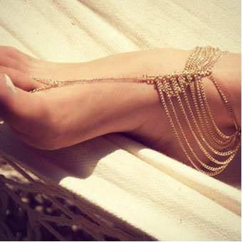 Mariage - Boho Barefoot Sandals Boho bride Beach Wedding