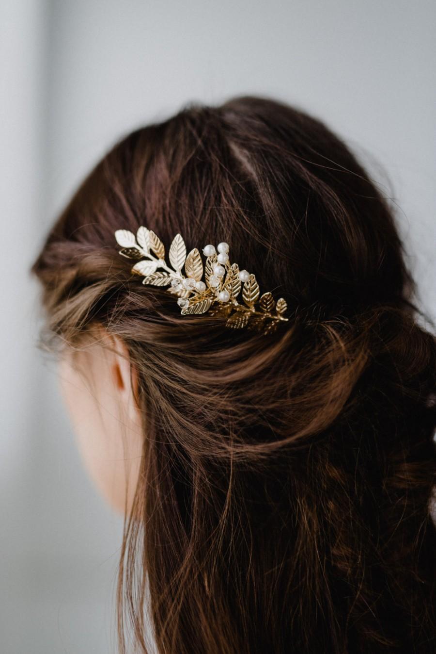 Свадьба - Gold Leaf Hair Comb