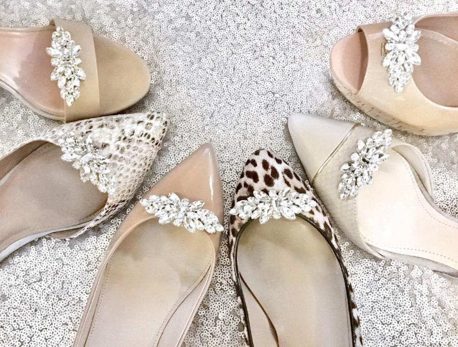 Hochzeit - Wedding Shoe Clips - Bridal Shoe Clips Bridesmaid Gift Style #C0117