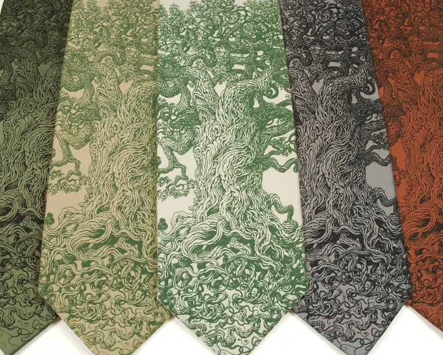 Wedding - Gnarled Tree Neck Tie - Men's Necktie - Unique Gifts for Men - Tree of Life - Cool Art - Father Gift