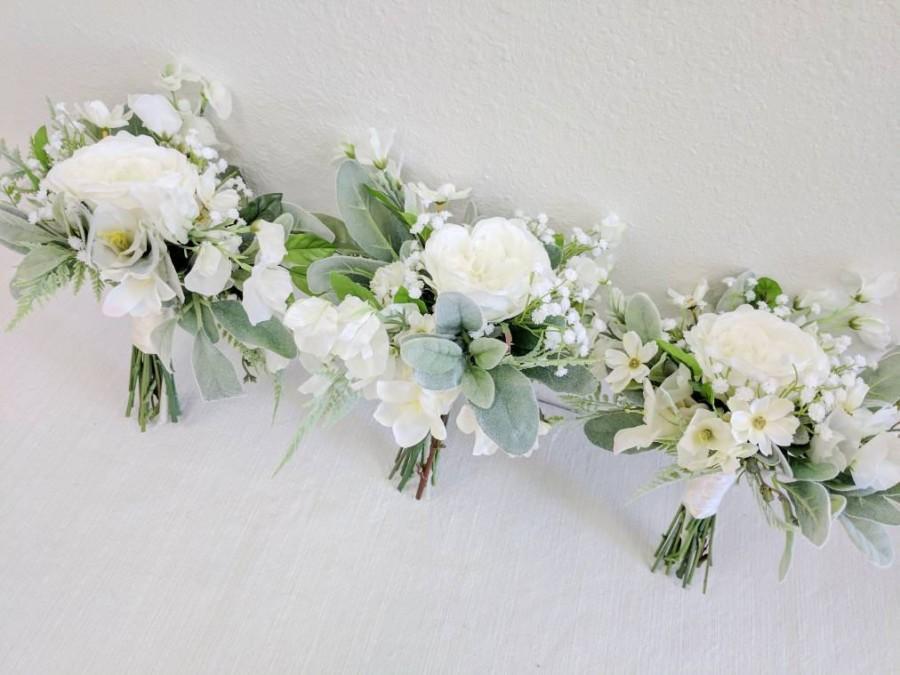 Wedding - Wedding Bouquet, Bridesmaid Bouquet, Wedding Flowers, Silk Flower Bouquet, Silk Flowers, Bouquet, Flower Bouquet, The Faux Bouquets