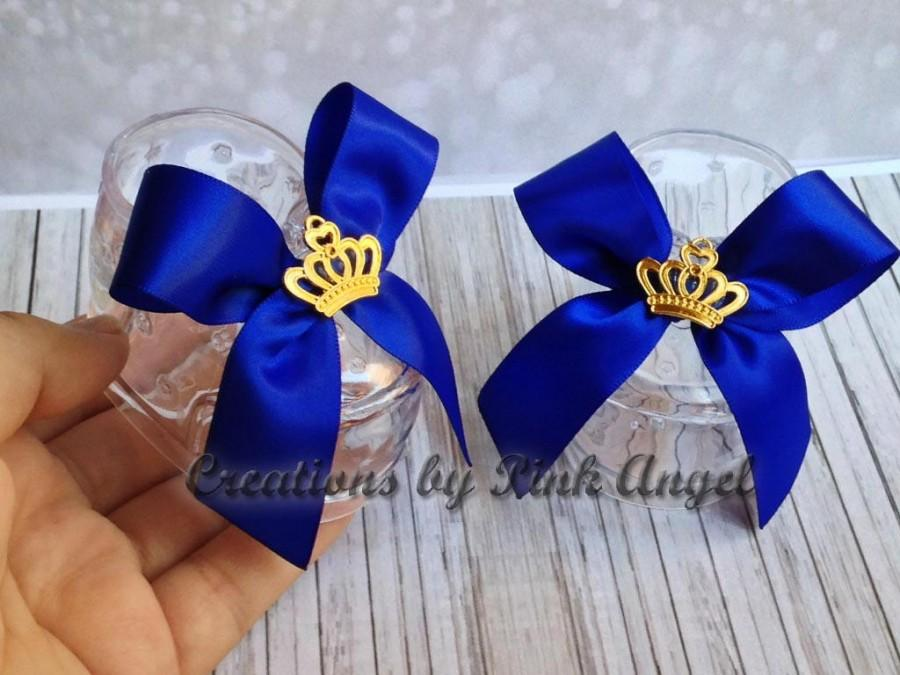 Свадьба - Royal Prince Baby Shoes Cake Topper, Prince Baby Booties Topper, Gold Crown Shoes Cake Topper, Baby Shower Prince Topper, 1 PAIR included