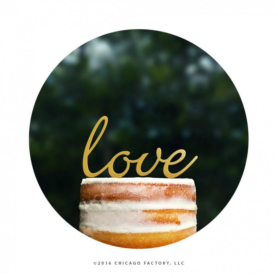Hochzeit - Script LOVE Wedding Cake Topper, Romantic Wedding Cake Topper, Modern Wedding Cake Topper, Cursive Cake Topper, Unique Cake Topper (T077)